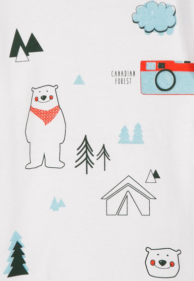 Z Kids Bluza cu imprimeu urs polar Baieti