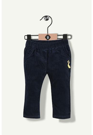 Z Kids Pantaloni din material reiat cu talie elastica si buzunare Fete