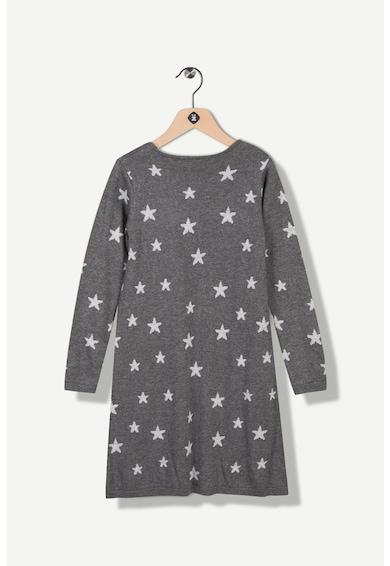 Z Kids Рокля тип пуловер с фина плетка и звездовиден десен Момичета