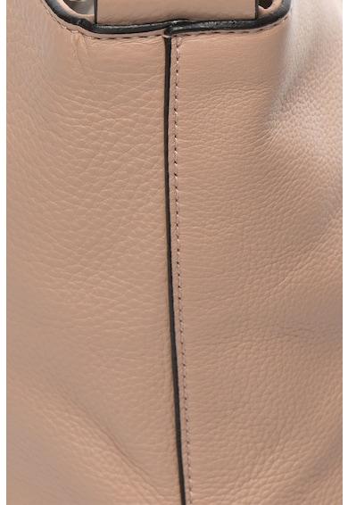 COCCINELLE Geanta de mana din piele cu logo metalic Femei