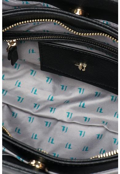 Trussardi Jeans Geanta structurata de mana din piele sintetica cu bareta detasabila Femei