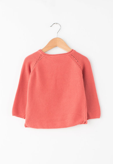 NAME IT Pulover tricotat cu text brodat Fete