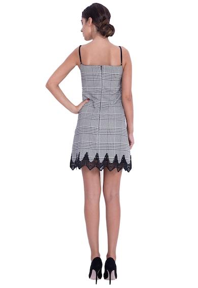 BADEN 11 Rochie mini tip furou din amestec de lana cu detalii valurite Femei