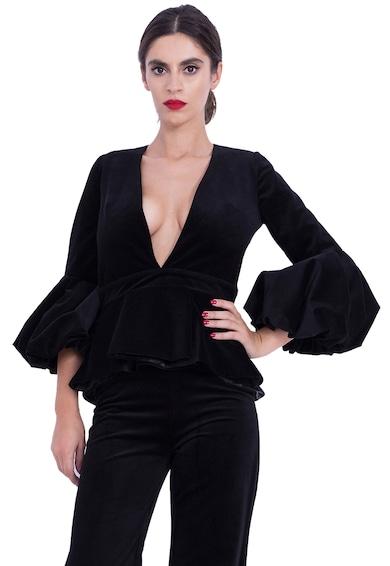 BADEN 11 Bluza de catifea cu mansete clopot Femei