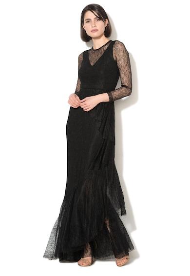NISSA Дълга дантелена рокля с разкроен подгъв Жени