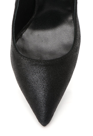 Mihaela Glavan Pantofi cu toc inalt, varf ascutit si apect lucios Femei