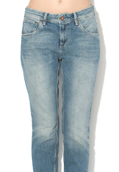 Pepe Jeans London Blugi mom fit cu buzunare si aspect decolorat Violet Femei