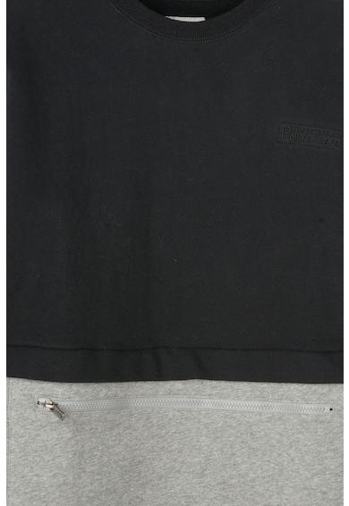 Pepe Jeans London Bluza sport cu buzunar frontal cu fermoar si captuseala din fleece Saul Baieti