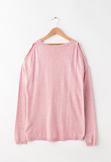Pepe Jeans London Bluza tricotata fin cu decupaje pe umeri Teen Fete
