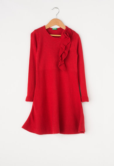 United Colors of Benetton Rochie tip pulover evazata Fete