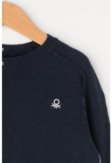 United Colors of Benetton Pulover din amestec de lana, cu cusaturi contrastante Baieti