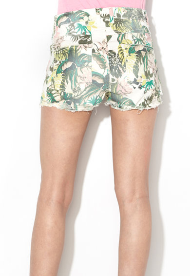 GUESS JEANS Pantaloni scurti din denim cu model floral Femei