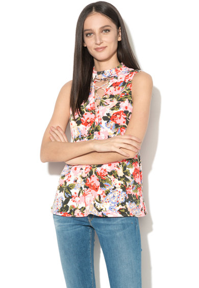 GUESS JEANS Bluza fara maneci cu imprimeu floral Femei