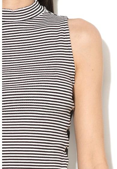 GUESS JEANS Modal tartalmú csíkos top megkötős oldalakkal női