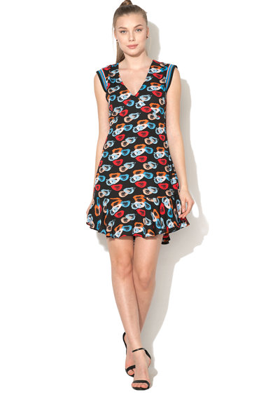 Andy Warhol by Pepe Jeans Rochie cu croiala in A si model abstract Selenas Femei