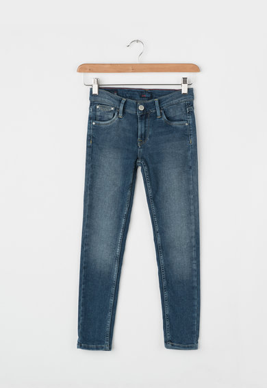 Pepe Jeans London Blugi slim fit cu aspect decolorat Snicker Fete