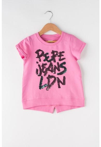 Pepe Jeans London Суитшърт Caro с двулицеви пайети Момичета