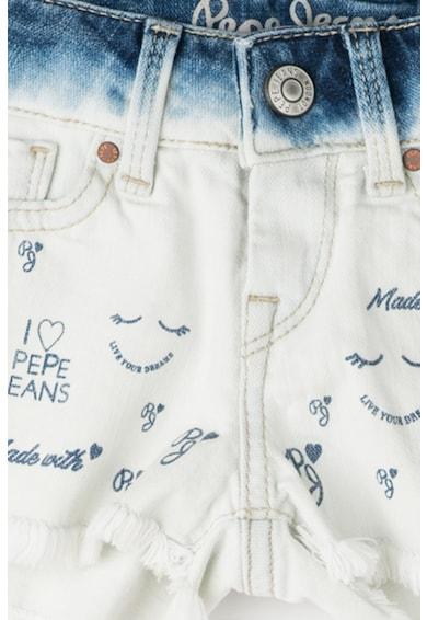 Pepe Jeans London Къс панталон Trinket от деним с лого Момичета