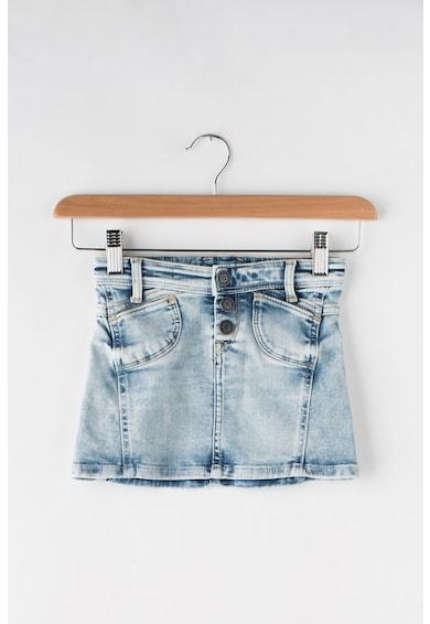 Pepe Jeans London Fusta din denim cu aspect decolorat Alina Geared Fete