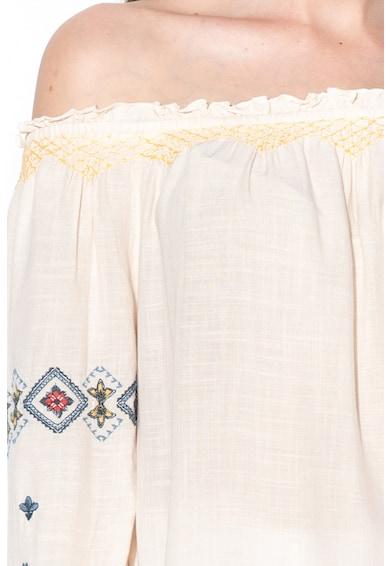 Pepe Jeans London Блуза Sofie с голи рамене и етно мотиви Жени
