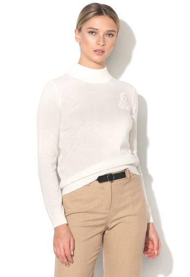 Stefanel Pulover din amestec de lana tricotat fin Femei