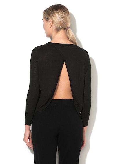 Stefanel Pulover din amestec de lana cu design suprapus pe partea din spate Femei