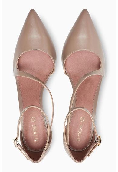NEXT Pantofi de piele cu varf ascutit si bareta pe glezna Femei
