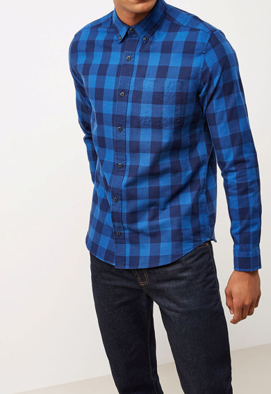 NEXT Regular fit ing hegyes&legombolható gallérral férfi