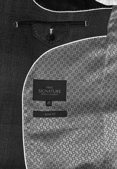NEXT Sacou elegant slim fit din amestec de lana si cu model in carouri Barbati