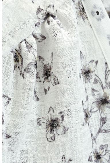 NEXT Bluza fara maneci cu decolteu in V si model floral Femei