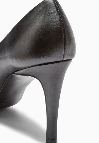 NEXT Pantofi de piele cu varf patrat si toc inalt Femei