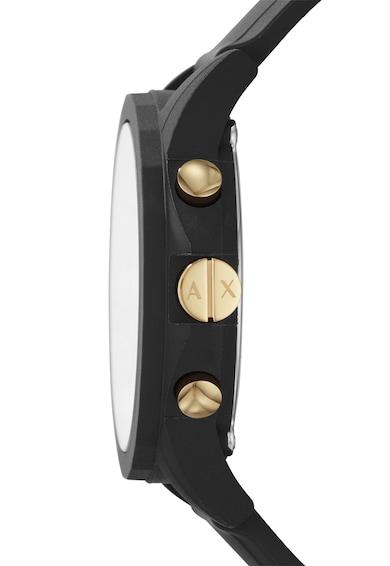 ARMANI EXCHANGE Set de ceas cu o curea din silicon si eticheta pentru bagaj Outerbanks Barbati