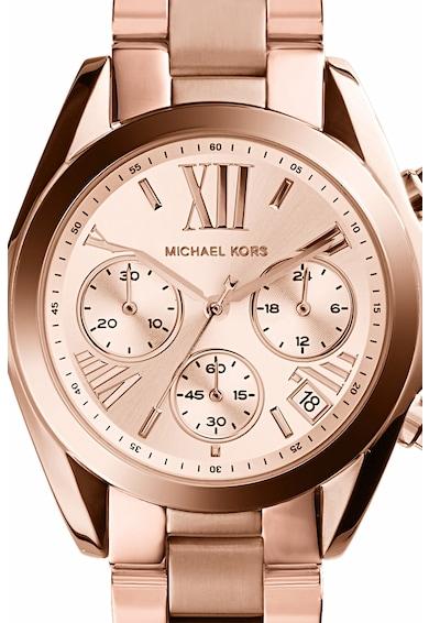Michael Kors Часовник Mini Bradshaw с хронограф и метална верижка Жени