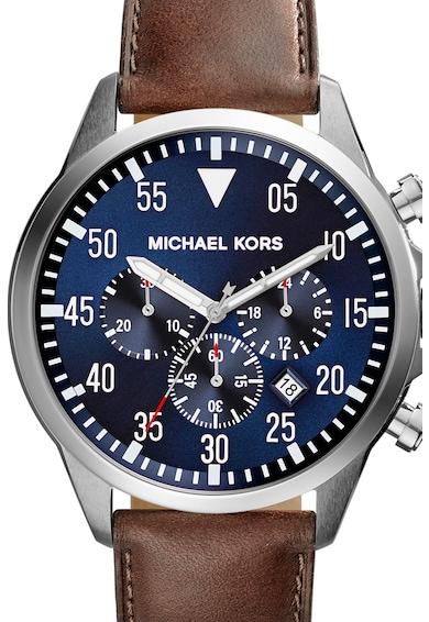 Michael Kors Часовник Gage с хронограф и кожена каишка Мъже