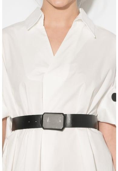 Zee Lane Denim Bluza supradimensionata cu o curea Femei