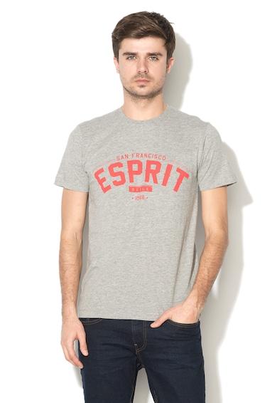 Esprit Tricou slim fit cu imprimeu frontal Barbati