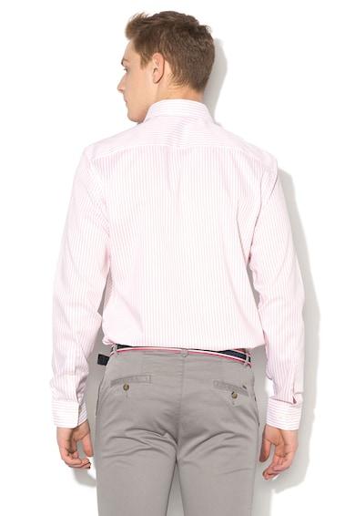 Esprit Normál fazonú, csíkos ing lekerekített alsó szegéllyel férfi