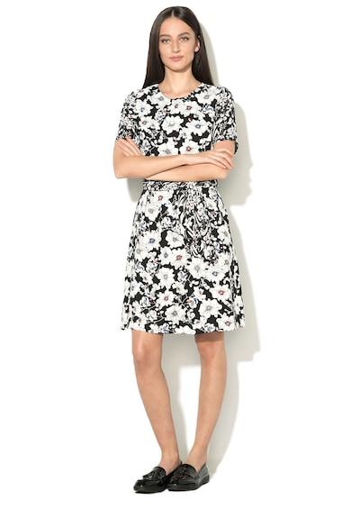 Esprit Rochie evazata cu model floral si cordon in talie Femei