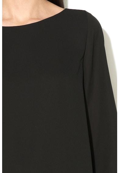 Esprit Lágy esésű krepp blúz átlapolt megjelenéssel női