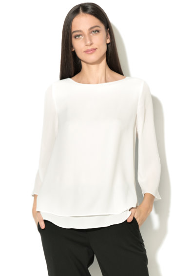 Esprit Bluza vaporoasa din crep cu aspect petrecut Femei