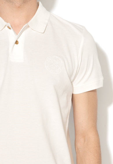 Esprit Regular fit galléros póló hímzett logóval férfi