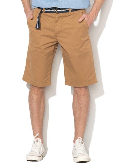 Esprit Къс панталон чино със свободна кройка и колан Мъже