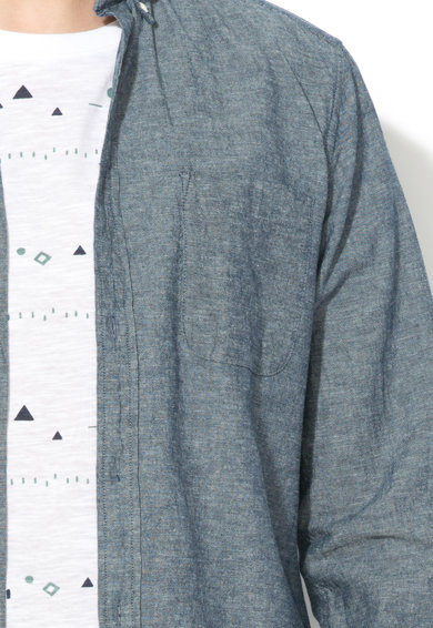 Esprit Риза с лен и яка с копчета Мъже