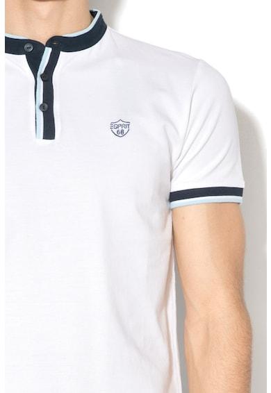 Esprit Pique slim fit póló mao gallérral férfi