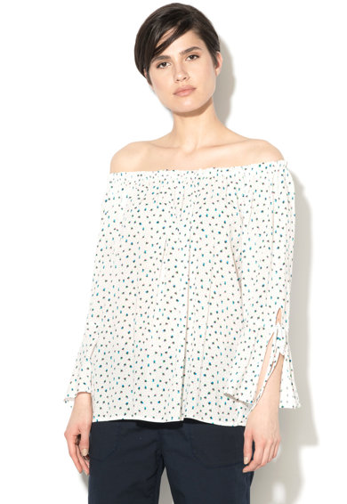 Esprit Десенирана блуза с голи рамене Жени