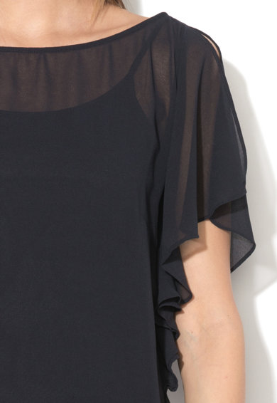 Esprit Вталена рокля с мрежест горен слой Жени