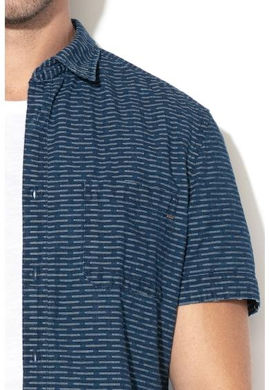 Esprit Вталена риза с абстрактен десен Мъже