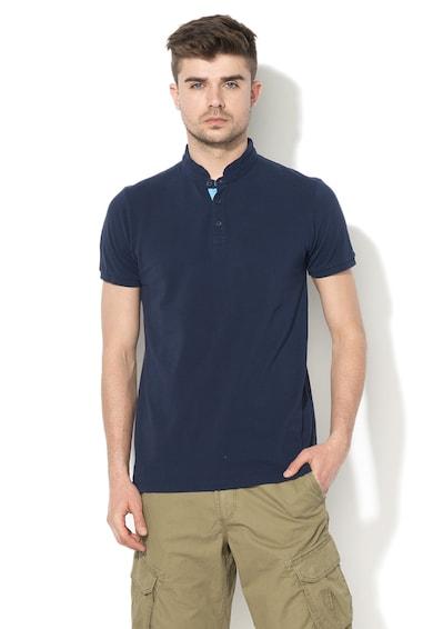 Esprit Тениска от памук пима с ниска овална яка Мъже