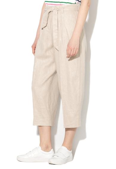 Esprit Панталон капри със свободна кройка и колан на талията Жени