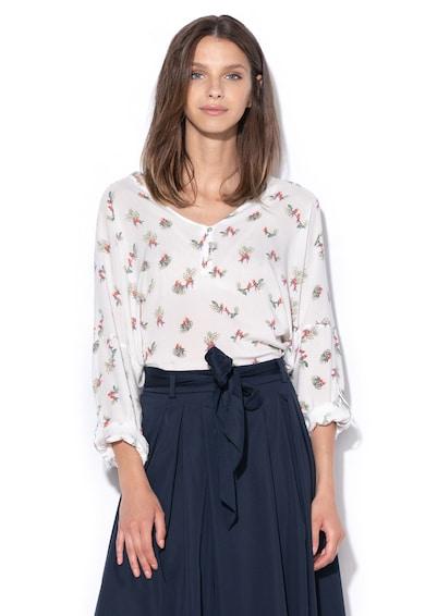Esprit Bluza cu model cu pasari Femei